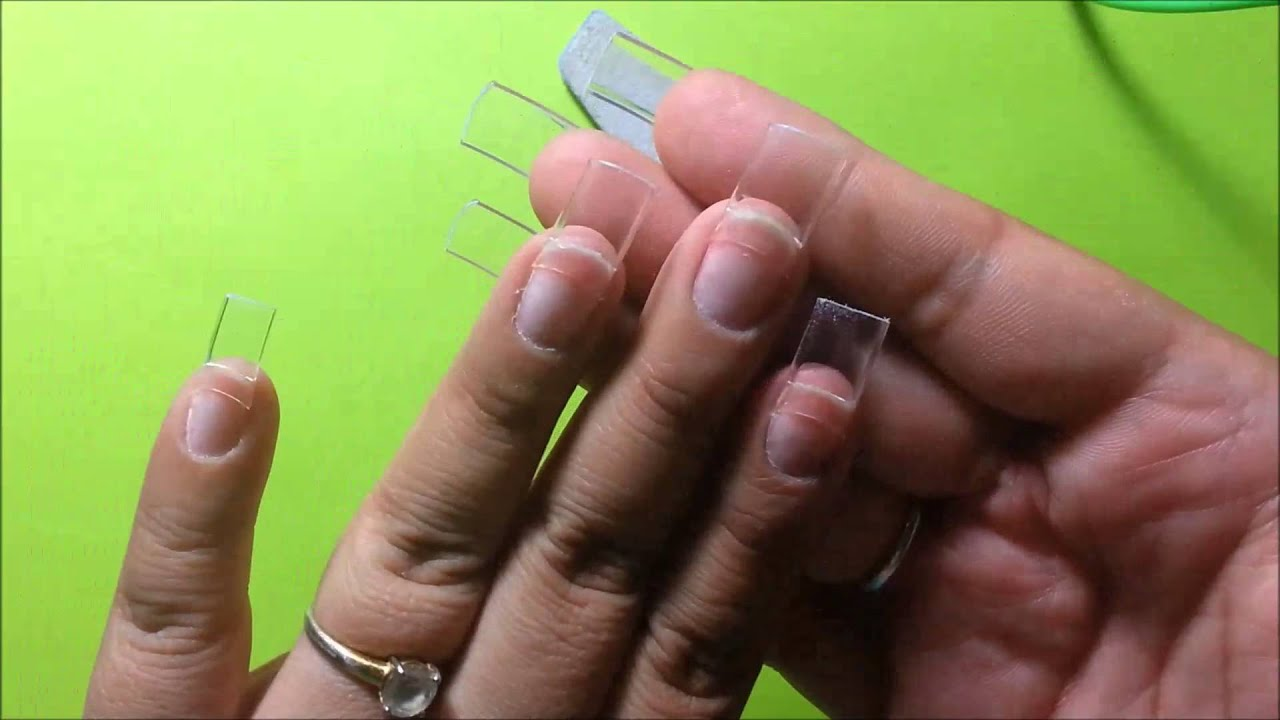 acrylic nail preparation instructions