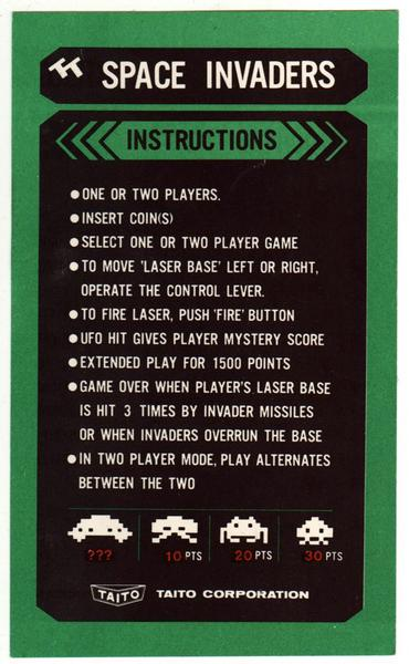 space invaders game instructions