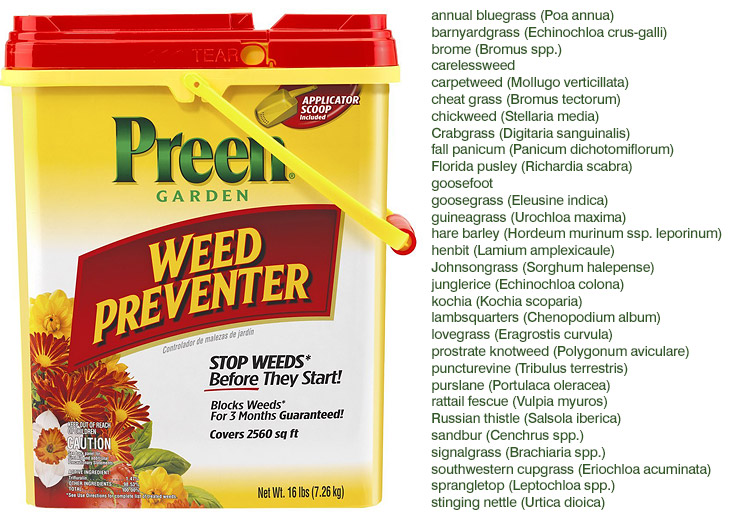 preen weed killer instructions