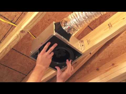 Bathroom vent fan installation instructions