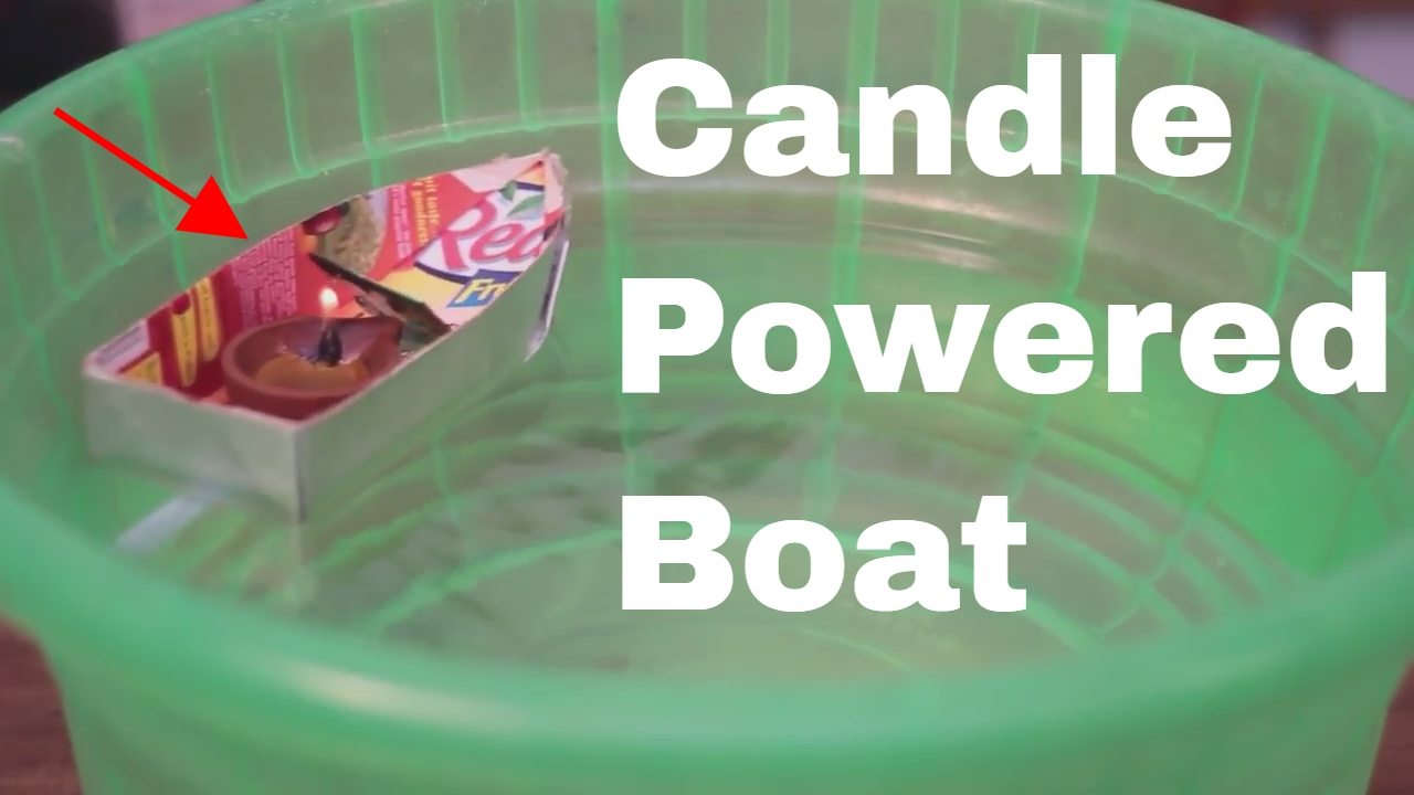 candle powered boat instructions