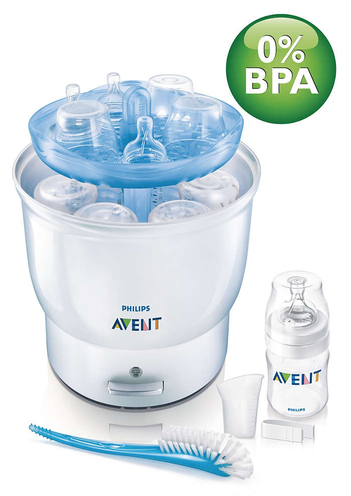 avent philips bottle microwave sterilizer instructions