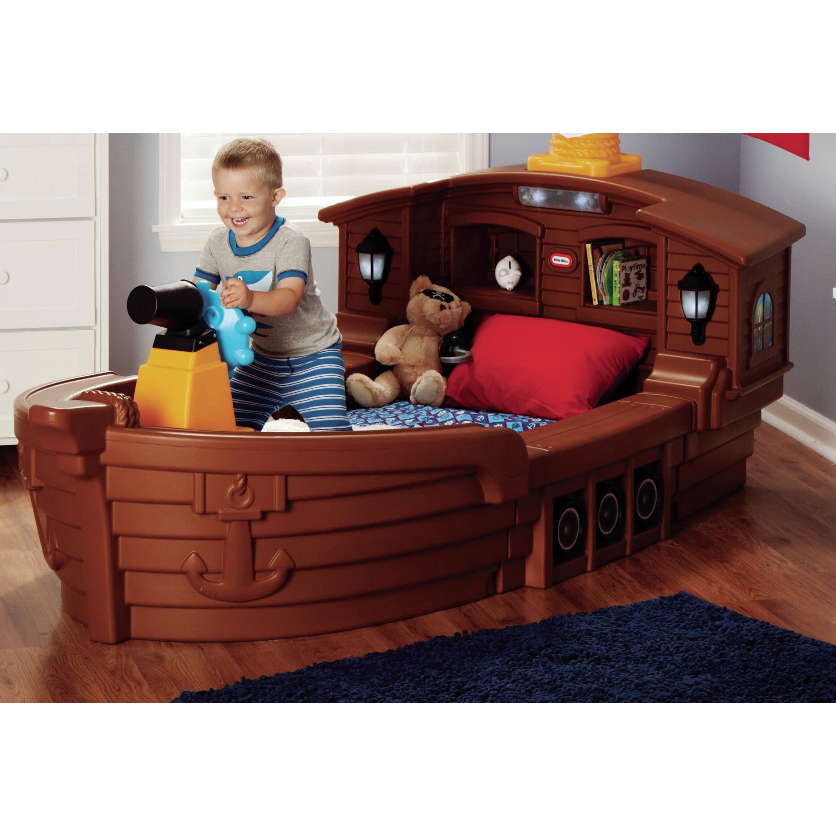little tikes pirate ship toddler bed instructions