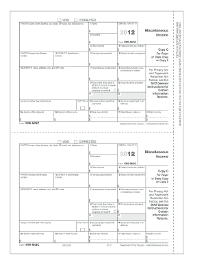 form 1099 misc instructions 2012