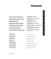 panasonic air conditioner indoor unit installation instructions