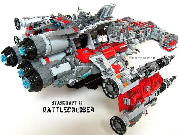 starcraft battlecruiser lego instructions